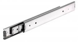 Golyós vezetősín, rozsdamentes, DS 0330 típus, 19.1mm széles, max 80 kg, teljes kinyúlás