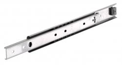 Golyós vezetősín, rozsdamentes, típus DS 2028, 9.5mm széles, max 65 kg, 3/4 kinyúlás