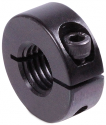 Clamp collar with thread   steel C45 burnished   thread M16 x 2.00   with bolt DIN 912 12.9